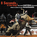Print: AlphaTrade Ad on Pro Bull Riders