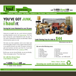 Web Design: iHaul Disposal Services