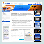 Web Design: Topaz Resources, Inc.